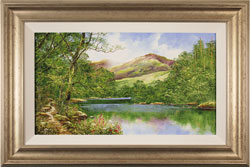 Terry Evans, Original oil painting on panel, On to the Fells
