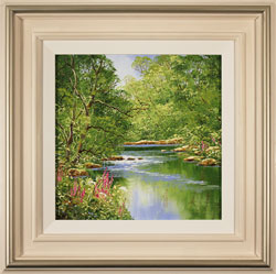 Terry Evans, Original oil painting on canvas, Woodland Stream Large image. Click to enlarge