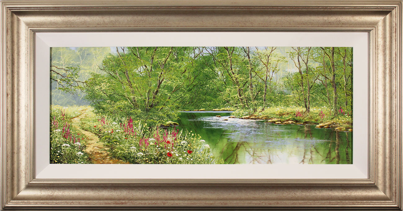 Terry Evans, Original oil painting on canvas, Woodland Walk. Click to enlarge