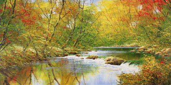 Terry Evans, Original oil painting on canvas, Autumn Symphony No frame image. Click to enlarge