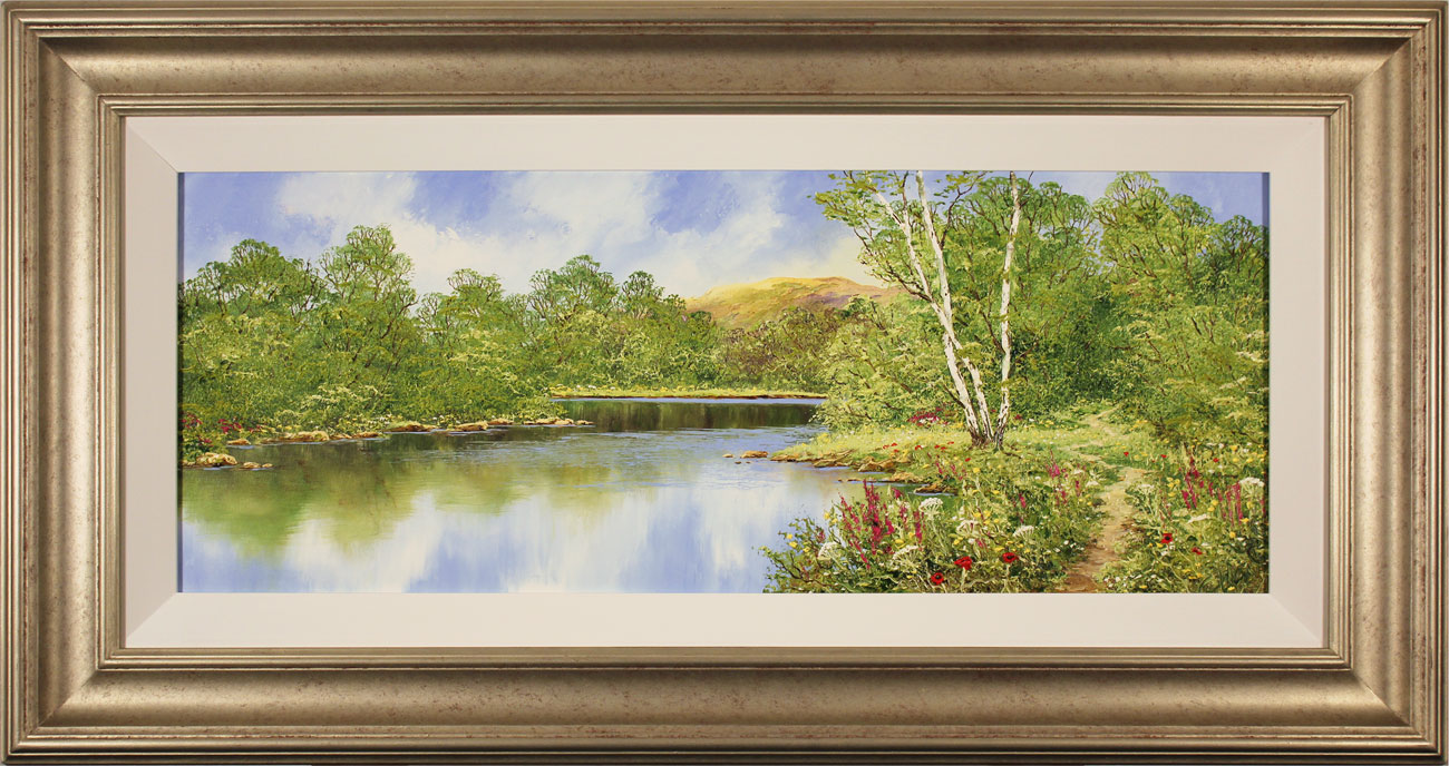 Terry Evans, Original oil painting on canvas, Waterside Walk. Click to enlarge