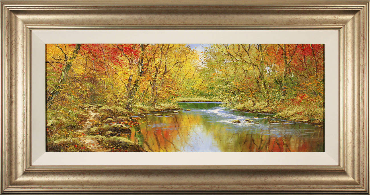 Terry Evans, Original oil painting on canvas, Autumn Wood, click to enlarge