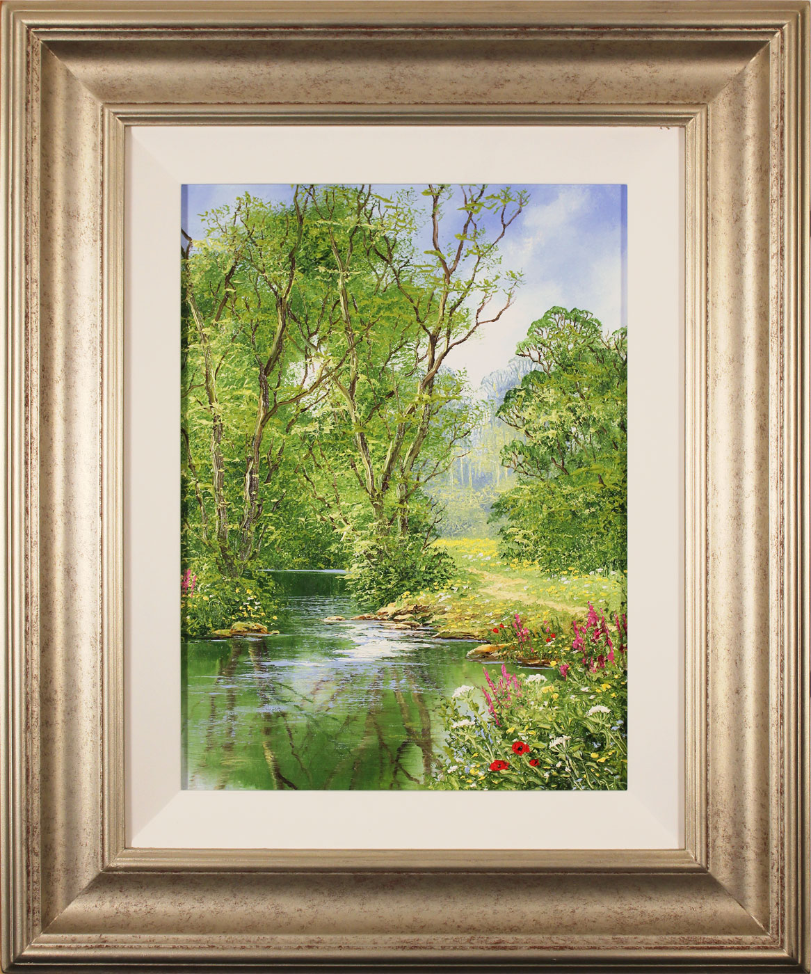 Terry Evans, Original oil painting on canvas, Woodland Walk, click to enlarge