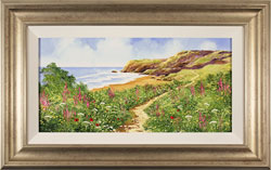 Terry Evans, Original oil painting on canvas, Coastal Walk