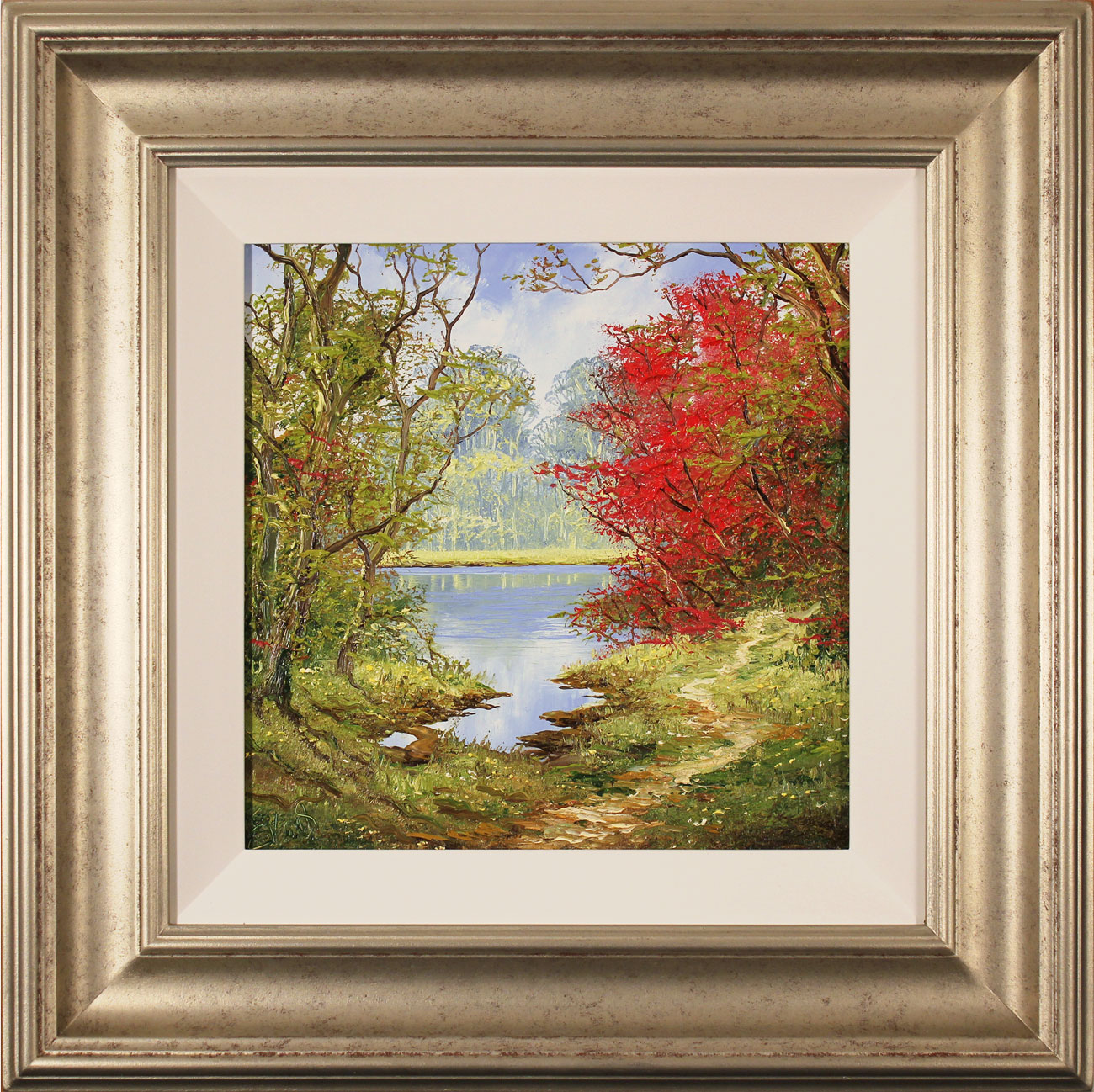 Terry Evans, Original oil painting on canvas, Early Autumn Wood. Click to enlarge