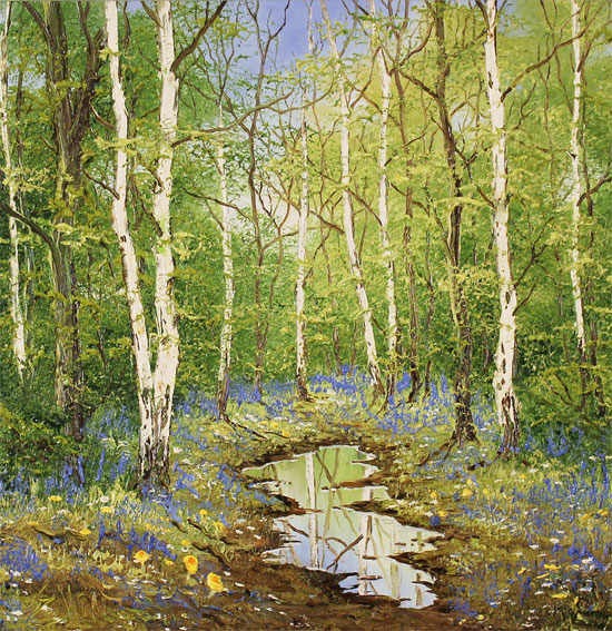 Terry Evans, Original oil painting on canvas, Forgotten Forest Without frame image. Click to enlarge