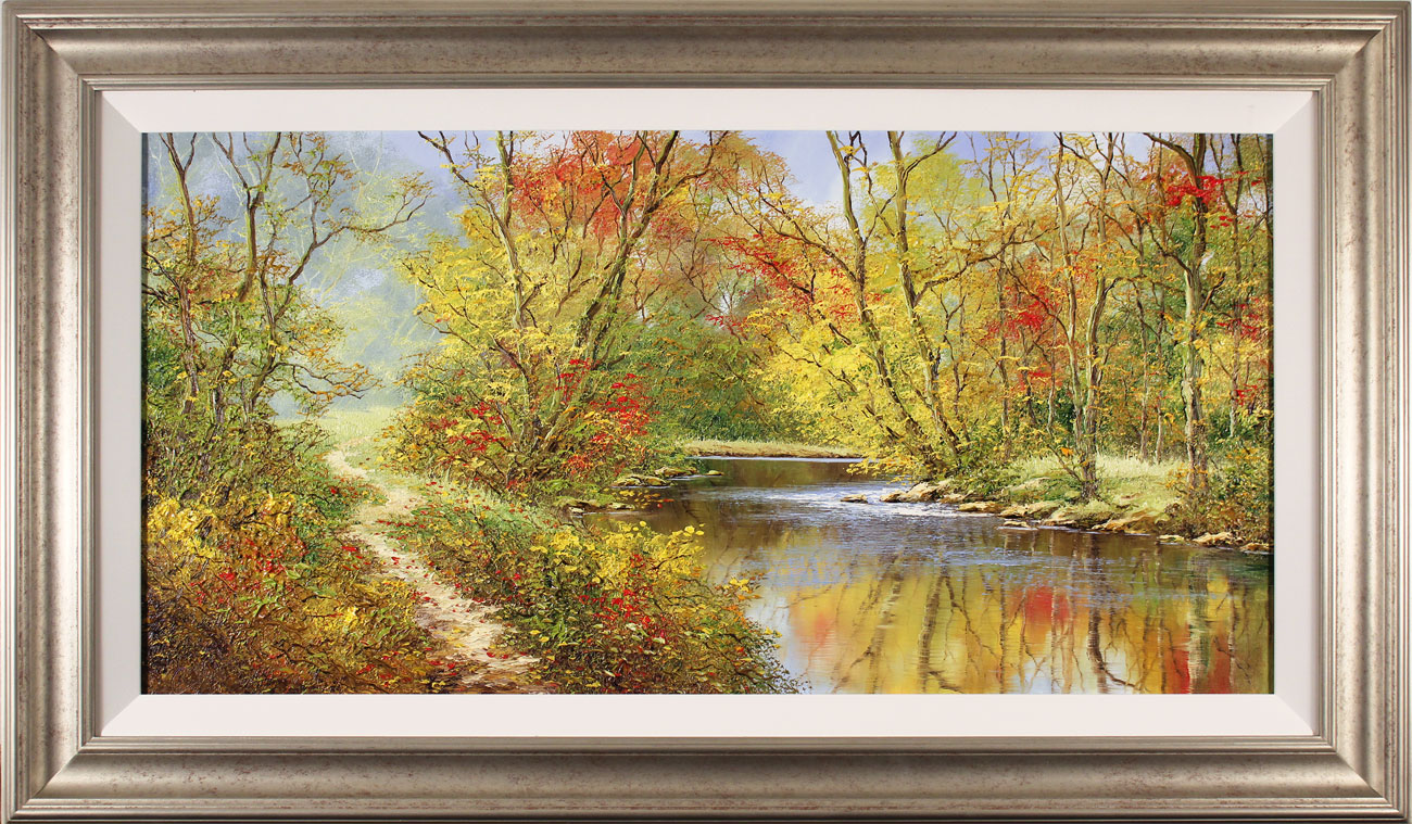 Terry Evans, Original oil painting on canvas, Autumn Reflections. Click to enlarge