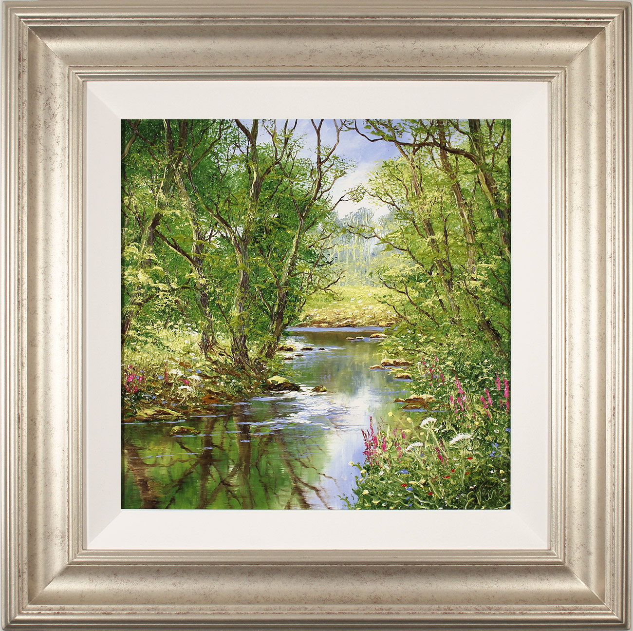 Terry Evans, Original oil painting on panel, Quiet of the Wood, click to enlarge