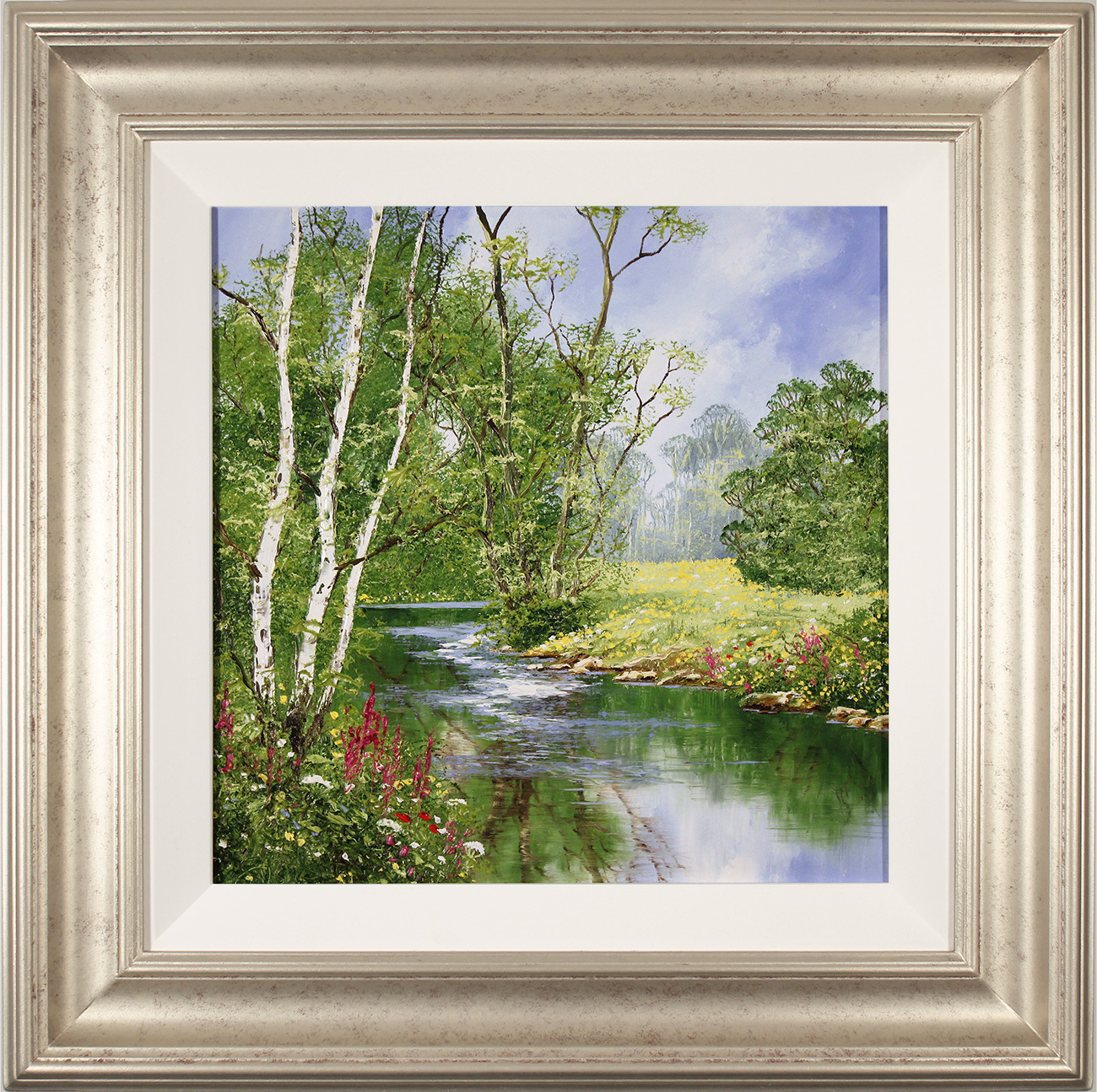 Terry Evans, Original oil painting on panel, Willdflower Walk, North Yorkshire, click to enlarge