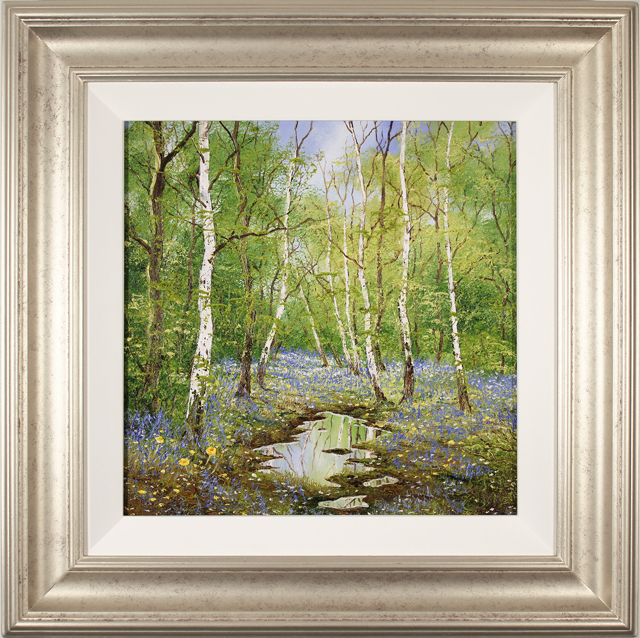Terry Evans, Original oil painting on canvas, The Bluebell Wood, click to enlarge