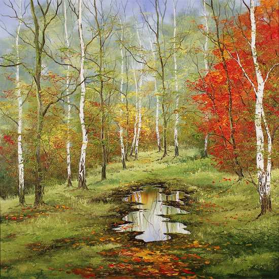 Terry Evans, Original oil painting on canvas, First Taste of Autumn Without frame image. Click to enlarge