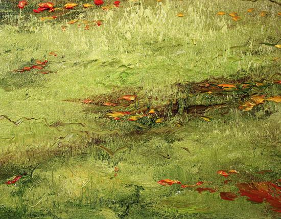 Terry Evans, Original oil painting on canvas, First Taste of Autumn Signature image. Click to enlarge