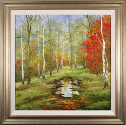 Terry Evans, Original oil painting on canvas, First Taste of Autumn