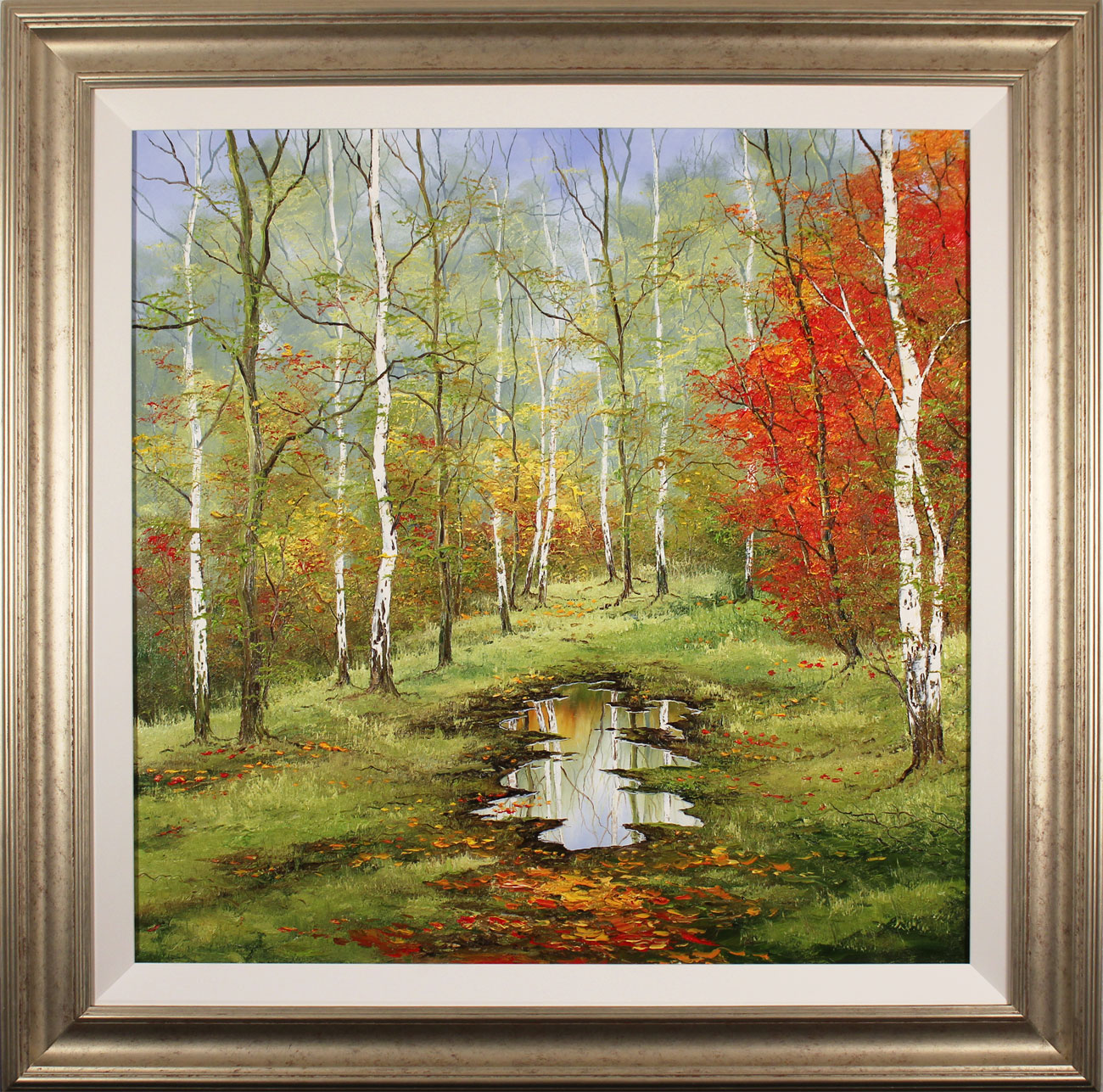 Terry Evans, Original oil painting on canvas, First Taste of Autumn. Click to enlarge