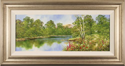 Terry Evans, Original oil painting on canvas, Waterside Walk Large image. Click to enlarge