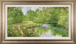 Terry Evans, Beckside Trail, Original oil painting on canvas