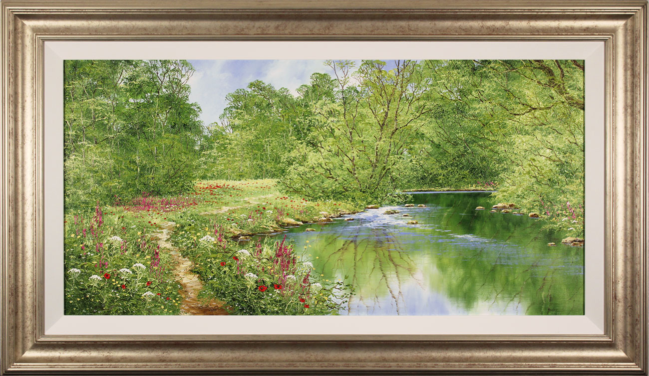 Terry Evans, Original oil painting on canvas, Beckside Trail, click to enlarge