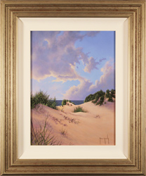 Terry Grundy, Original oil painting on panel, Sand, Sea and Sky Large image. Click to enlarge