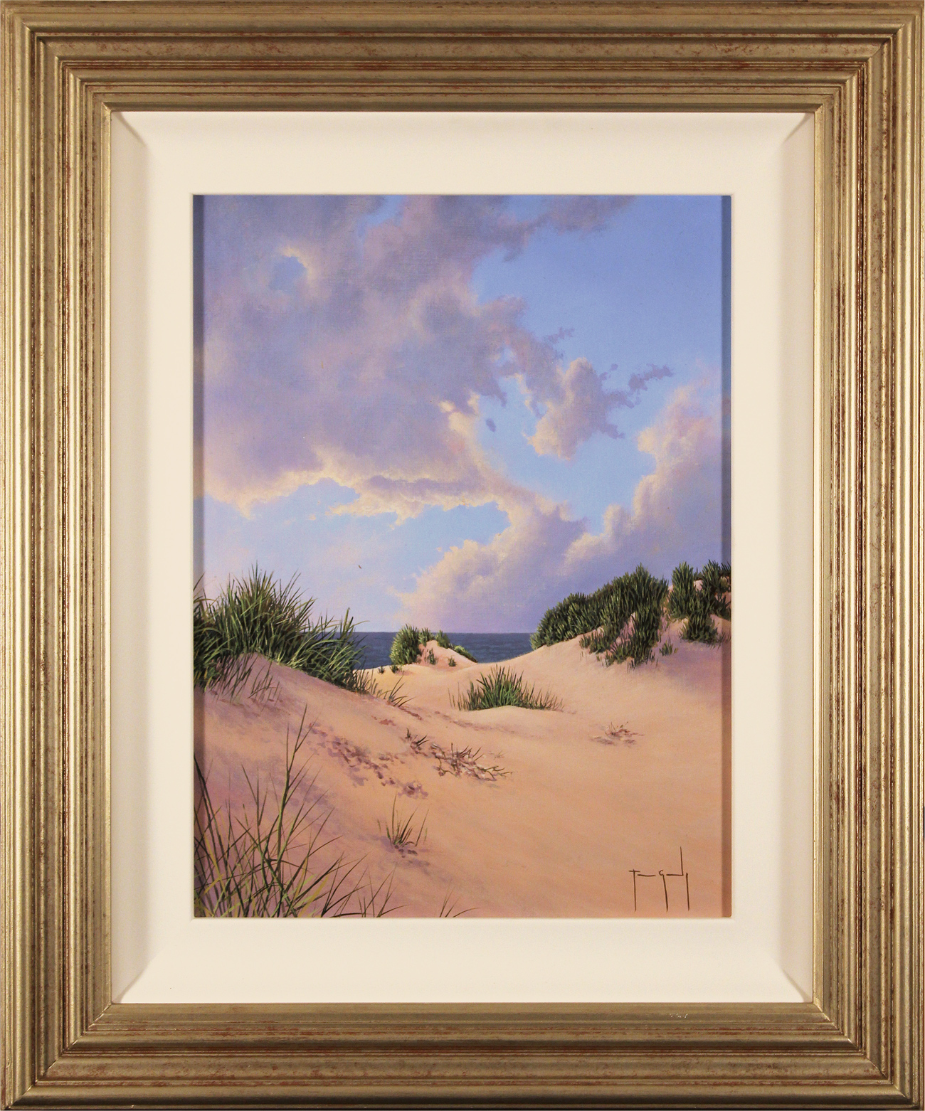 Terry Grundy, Original oil painting on panel, Sand, Sea and Sky. Click to enlarge