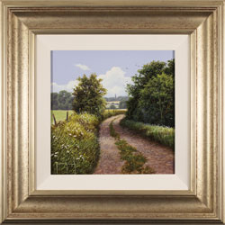 Terry Grundy, Original oil painting on panel, Country Lane