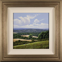 Terry Grundy, Original oil painting on panel, Summer Afternoon, North Yorkshire