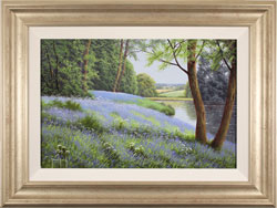 Terry Grundy, Original oil painting on panel, Carpet of Bluebells