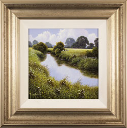 Terry Grundy, Original oil painting on panel, Summer Tranquillity