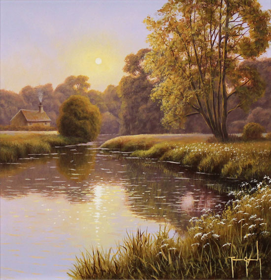 Cash And Go >> Terry Grundy, Original oil painting on panel, Lakeside ...