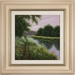 Terry Grundy, Riverside Walk, Original oil painting on panel