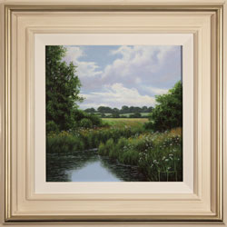 Terry Grundy, Tranquil Midsummer, Yorkshire Wolds, Original oil painting on panel