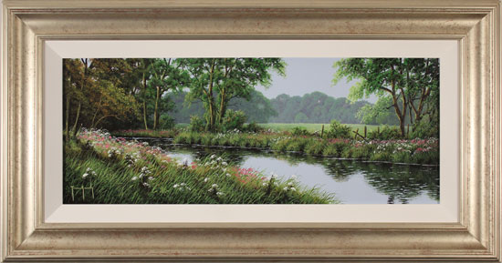 Terry Grundy, Original oil painting on panel, Calm of the River