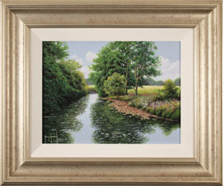 Terry Grundy, Original oil painting on panel, Midsummer Tranquillity