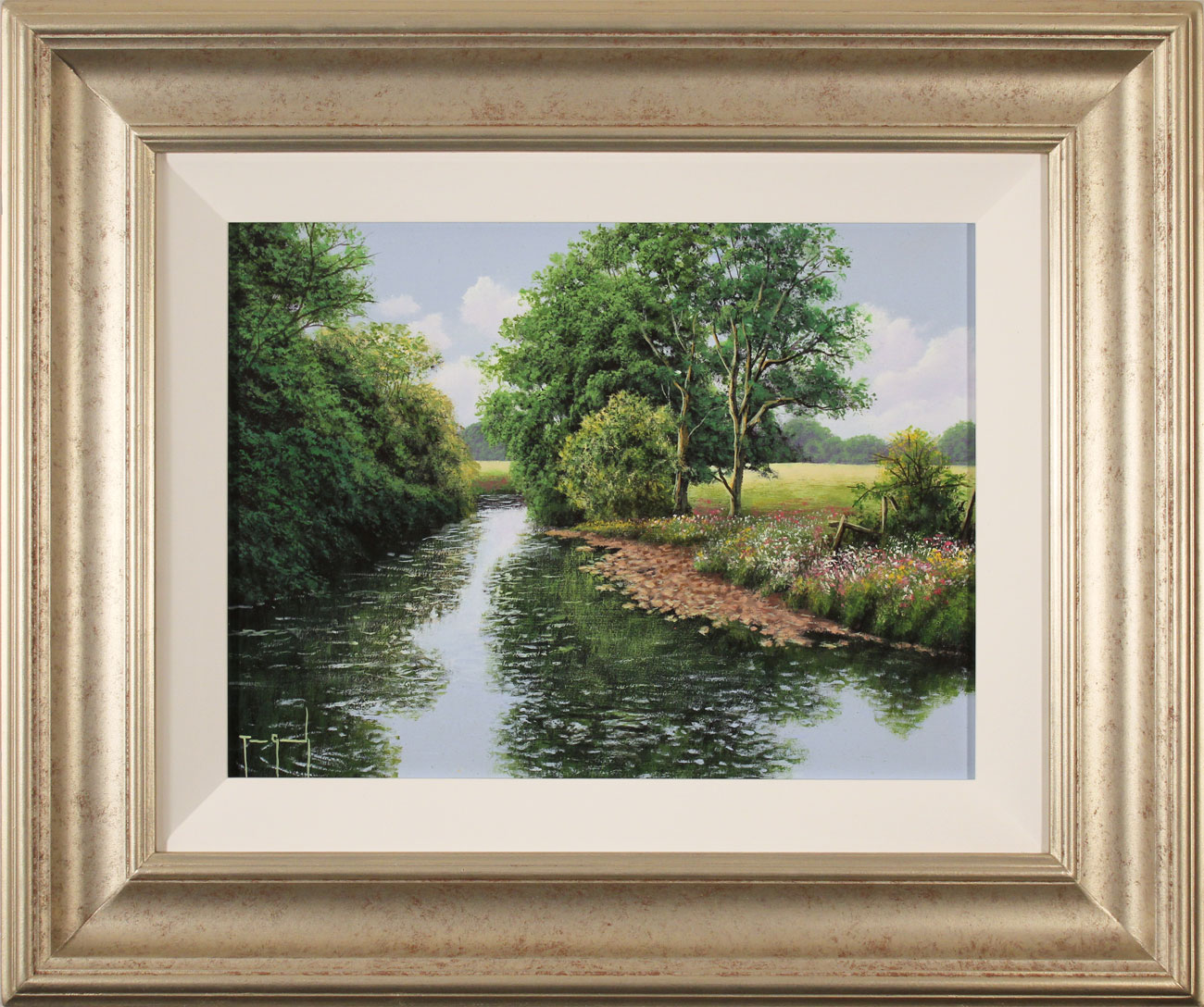 Terry Grundy, Original oil painting on panel, Midsummer Tranquillity, click to enlarge