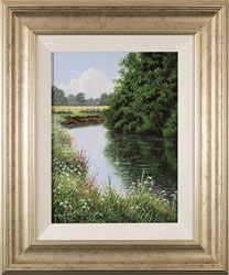 Terry Grundy, Original oil painting on panel, The River Eden