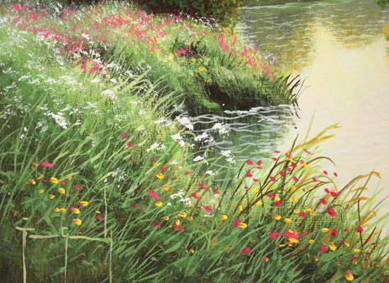 Terry Grundy, Original oil painting on panel, Morning Calm Signature image. Click to enlarge