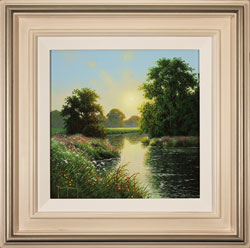 Terry Grundy, Original oil painting on panel, Morning Calm