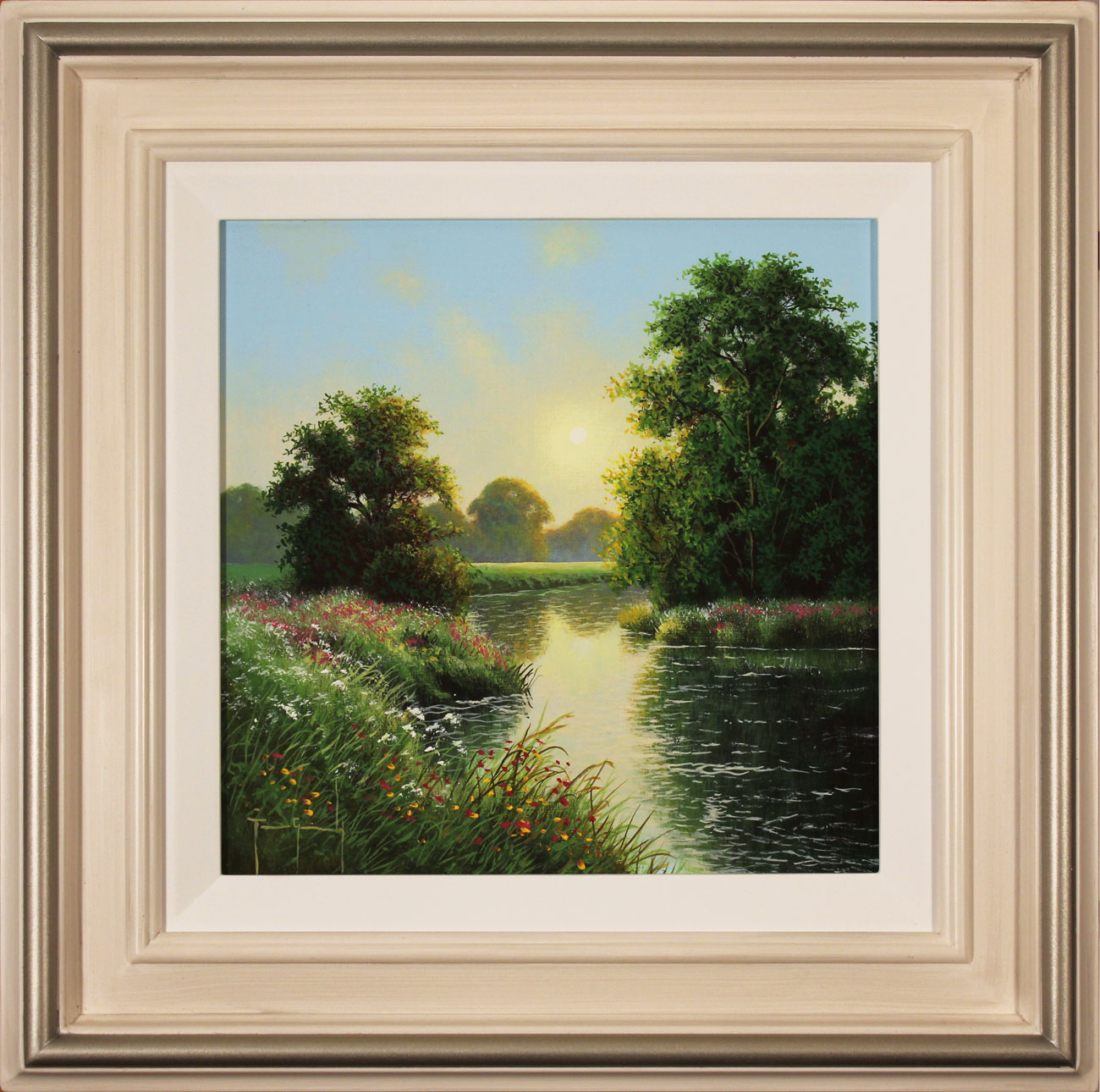 Terry Grundy, Original oil painting on panel, Morning Calm, click to enlarge