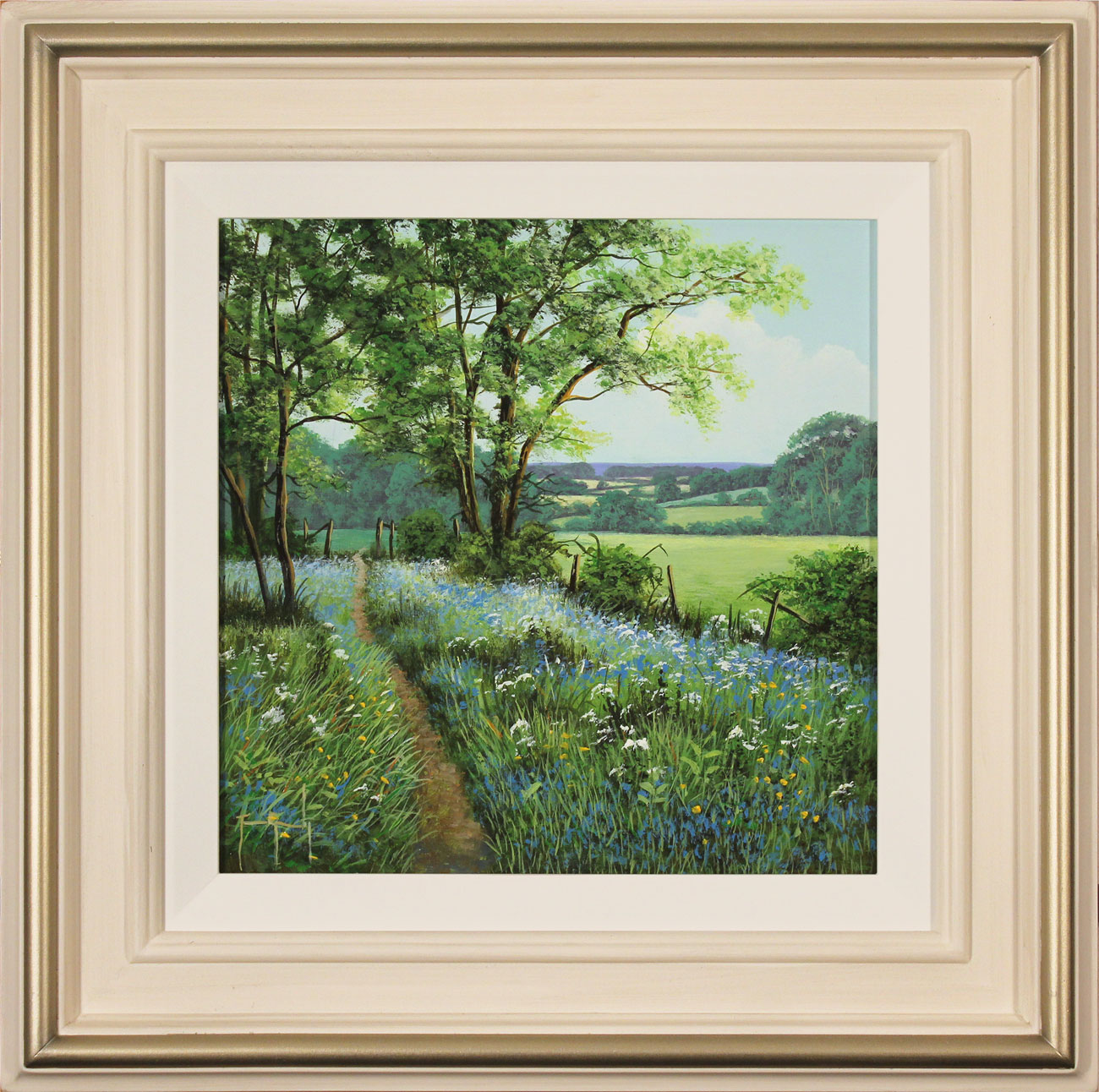 Terry Grundy, Original oil painting on panel, Bluebell Walk, click to enlarge