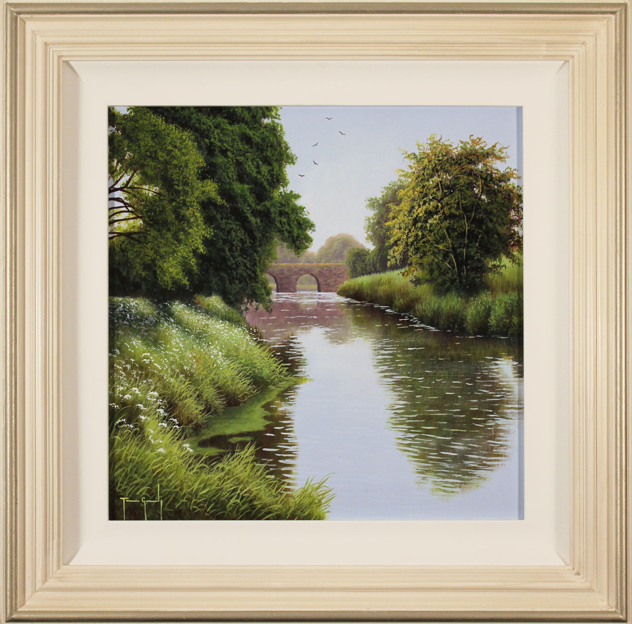 Terry Grundy, Original oil painting on panel, Summer by the River. Click to enlarge