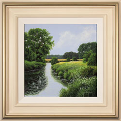 Terry Grundy, Original oil painting on panel, The River Wharfe Large image. Click to enlarge