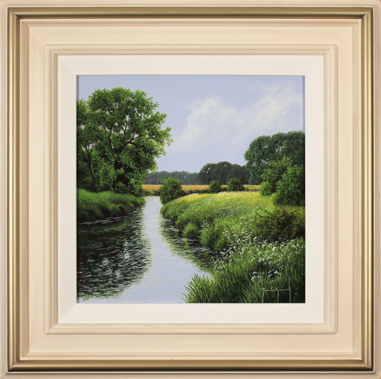 Terry Grundy, Original oil painting on panel, The River Wharfe. Click to enlarge