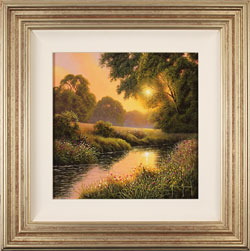 Terry Grundy, Original oil painting on panel, Summer Sunset