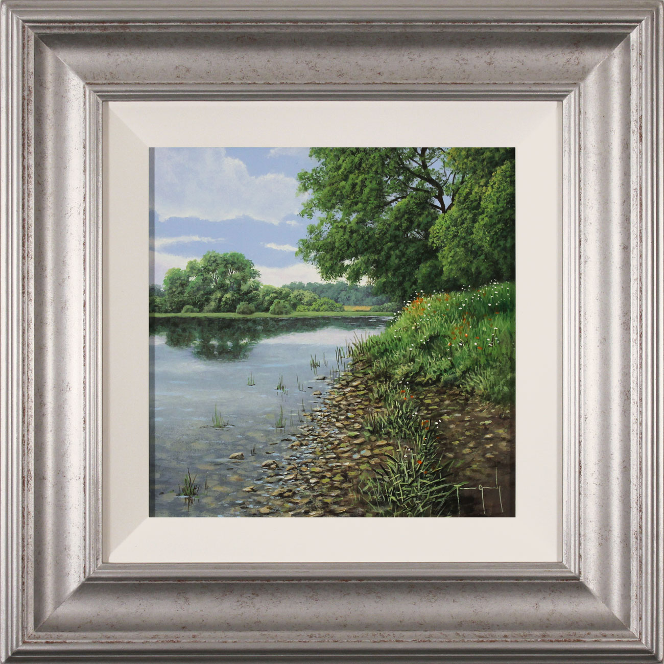 Terry Grundy, Original oil painting on panel, Calm of the River, click to enlarge