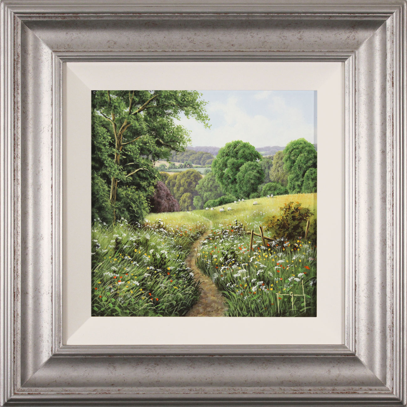 Terry Grundy, Original oil painting on panel, Passage of Meadowsweet , click to enlarge
