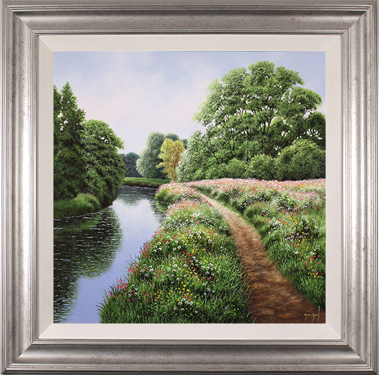 Terry Grundy, Original oil painting on panel, Tranquil Midsummer, Yorkshire Wolds