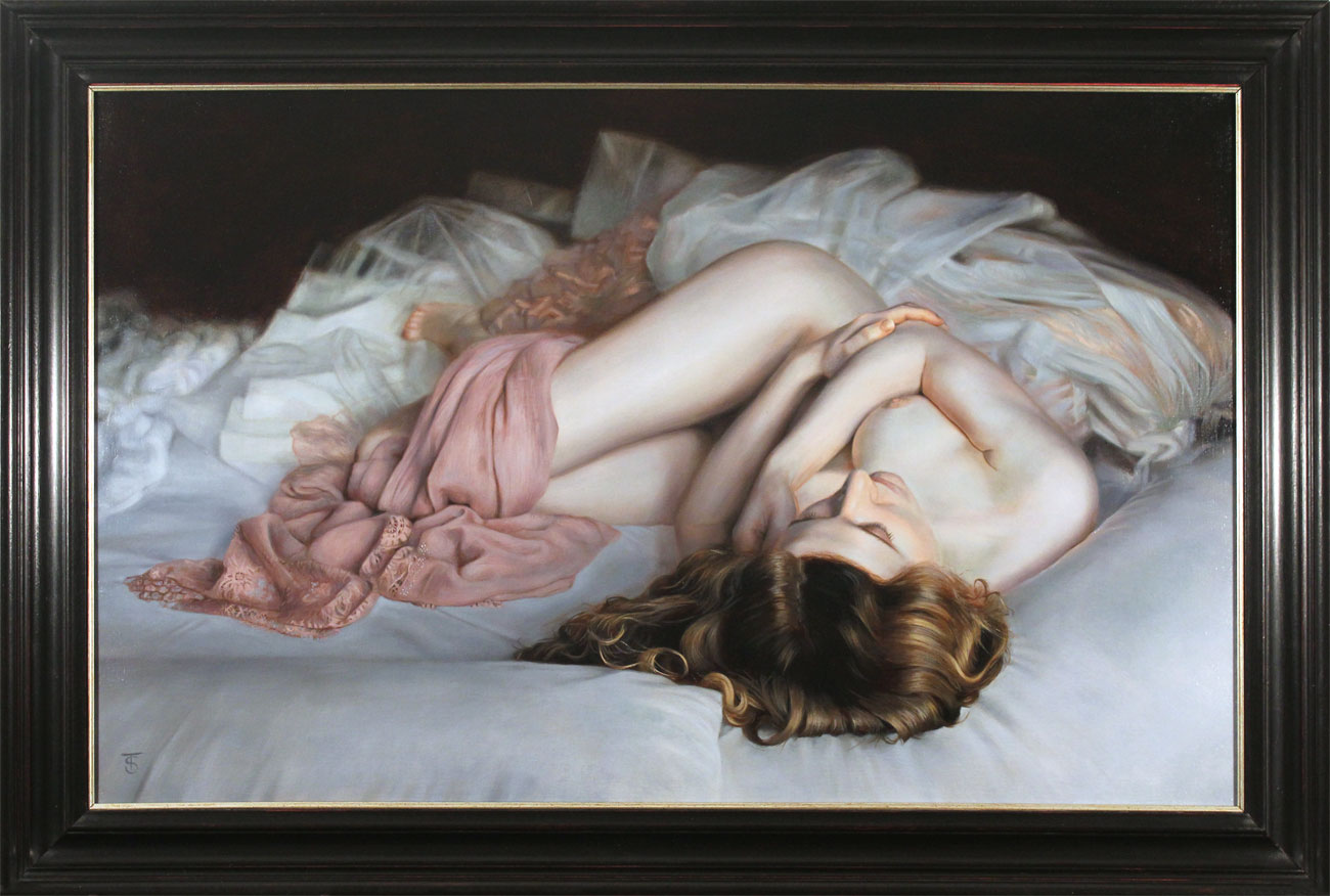 Tina Spratt, Original oil painting on canvas, Dream Seeker, click to enlarge
