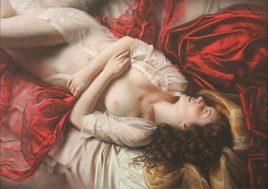 Tina Spratt, Pastel, Red and Gold