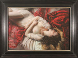 Tina Spratt, Red and Gold, Pastel
