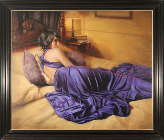 Tina Spratt, Original oil painting on canvas, The Promise
