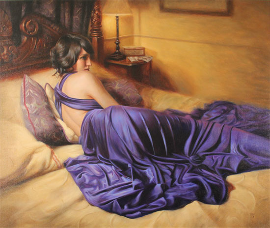 Tina Spratt, Original oil painting on canvas, The Promise No frame image. Click to enlarge